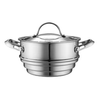 Bayou Classic 10 Quart Fry Pot With Steamer Basket