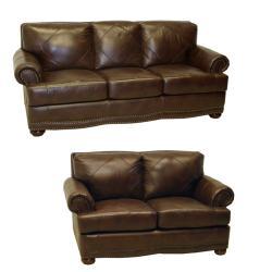 Abbyson Living Richfield Premium Top Grain Leather Sofa