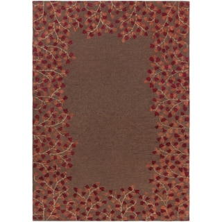 Hand Tufted Whimsy Chocolate Wool Rug 8 X 11