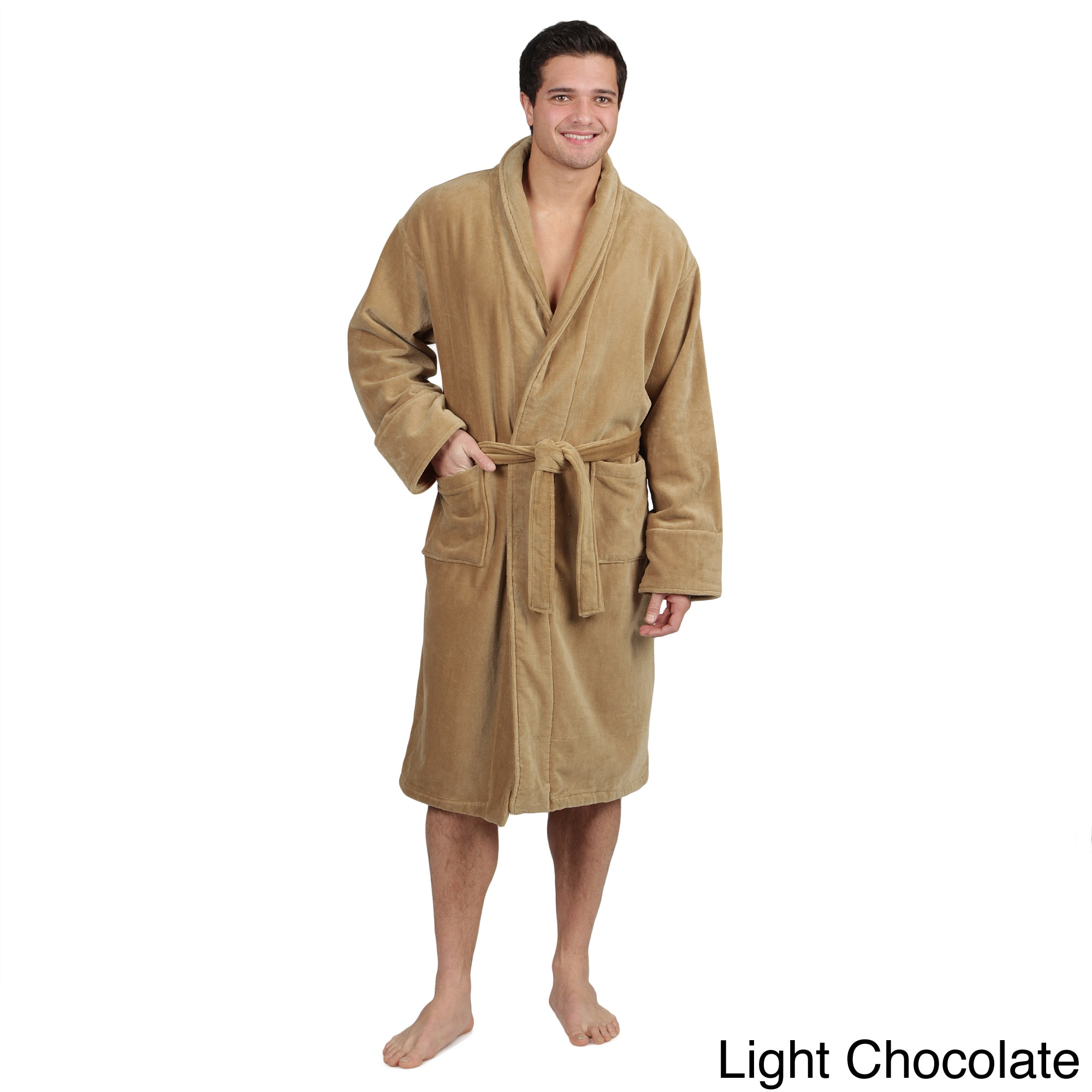 men 39 s cotton terrycloth bath robe overstock shopping big discounts on bath robes. Black Bedroom Furniture Sets. Home Design Ideas