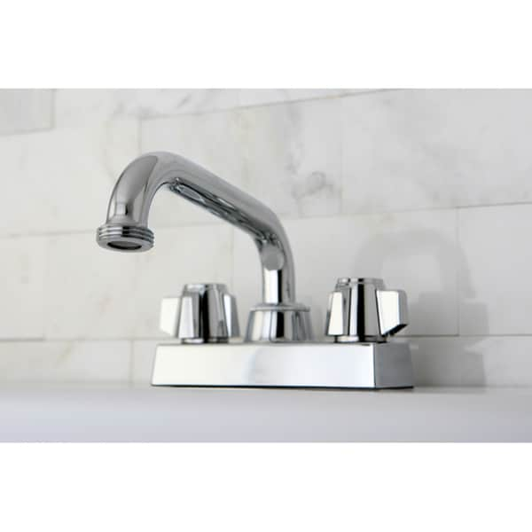 Chrome Double-handle 4-inch Centerset Bathroom Faucet ...