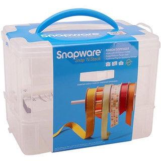 Spaware Snap N Stack 2 Layer Craft Organizer And Ribbon