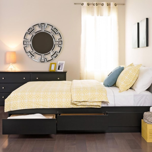 Yaletown black queen 6 drawer platform storage bed 94d5abe9 c0b4 428e ab82 1e8be0dad125 600
