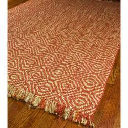 Safavieh Handmade Moroccan Cambridge Orange Grey Wool Rug