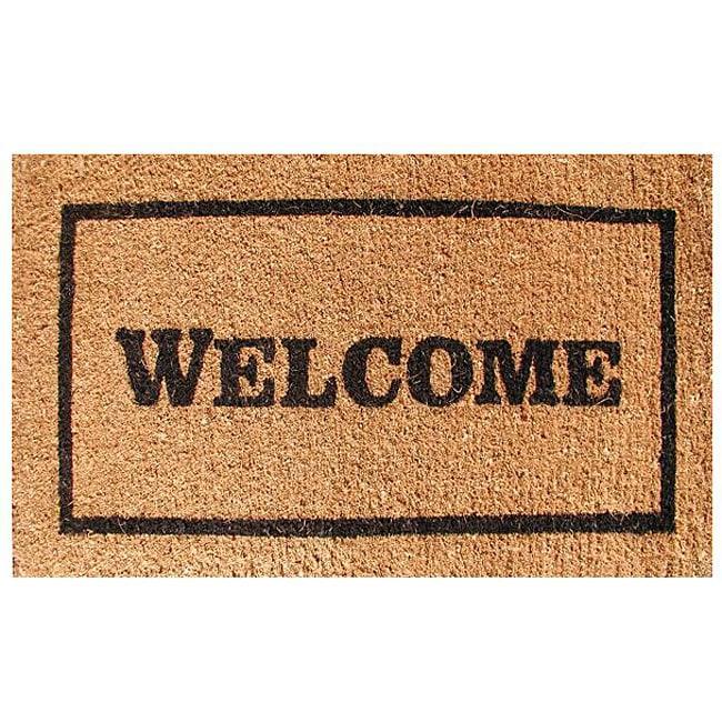 Welcome Door Mat (30x18) - 13308518 - Overstock.com ...