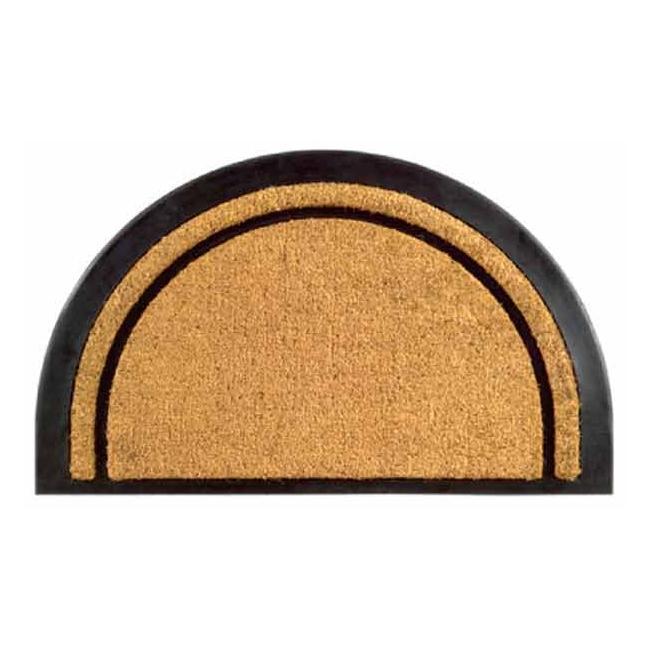 York Half Round Coir Stripe Door Mat 20 X 32 13308532