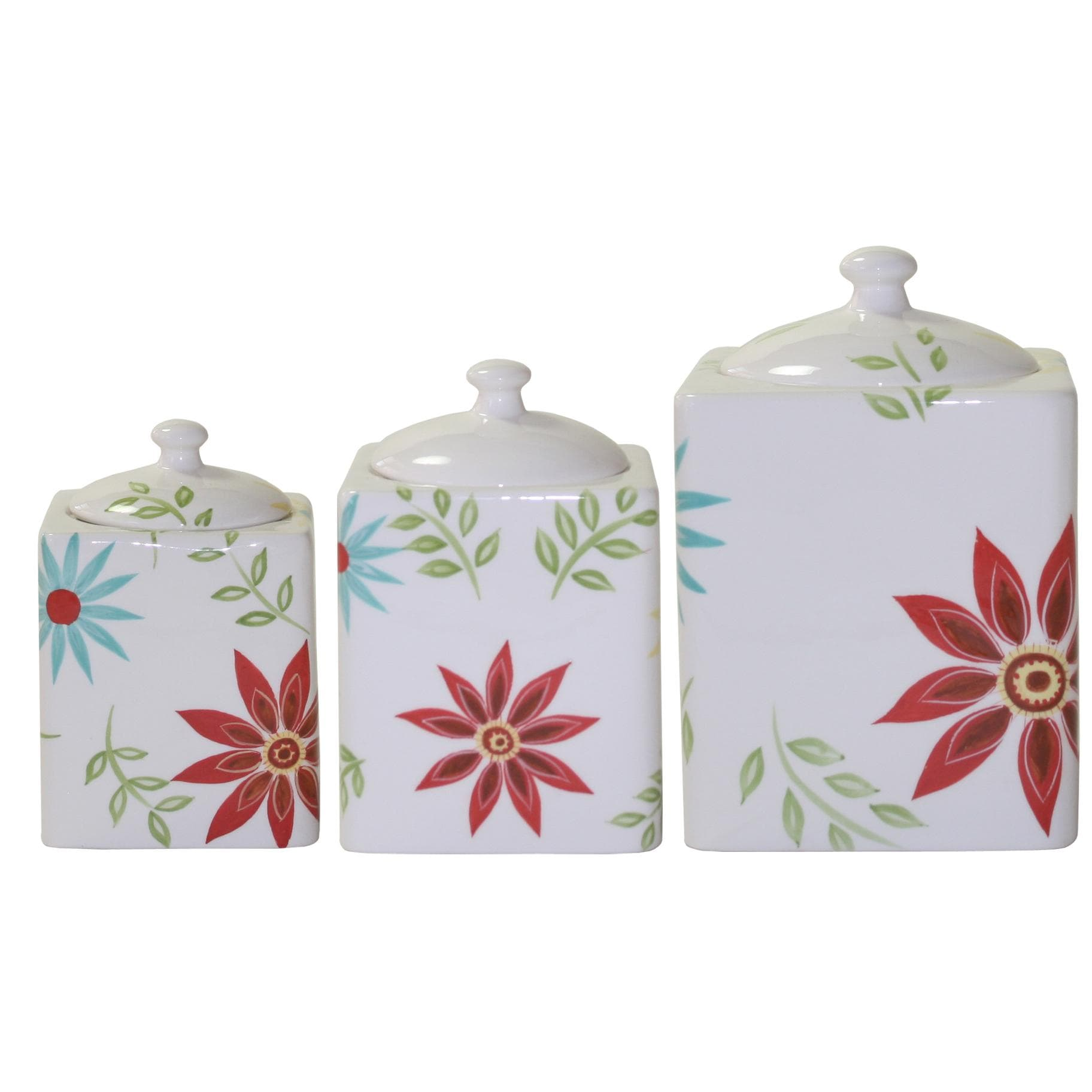 Tuscan Kitchen Canisters Corelle Happy Days 3 Piece Canister Set 13310335