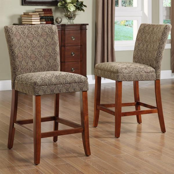 Carlisle Cherry 24 Inch Counter Height Chairs Set Of 2