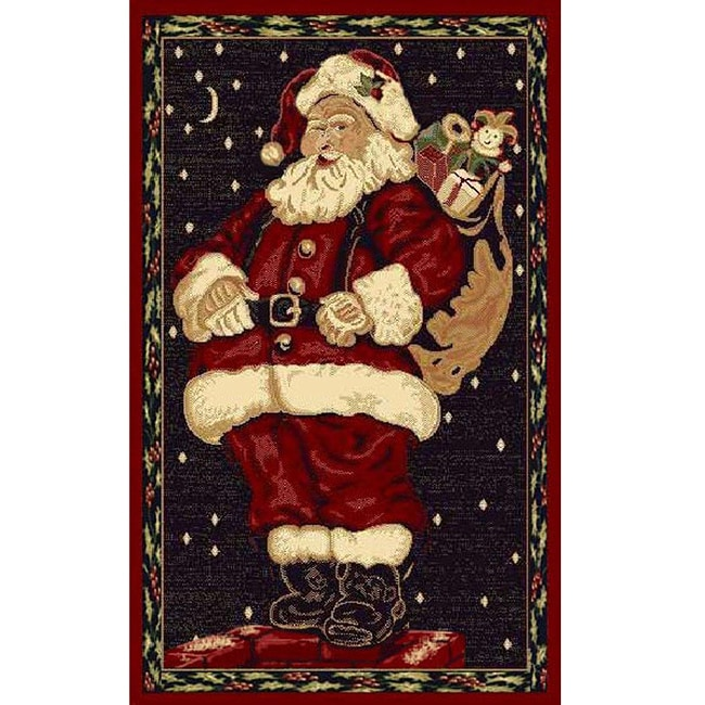 Santa Claus Holiday Area Rug 3 X 5 Overstock