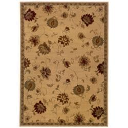 Indoor Tan And Gold Area Rug 15004674 Overstock Com