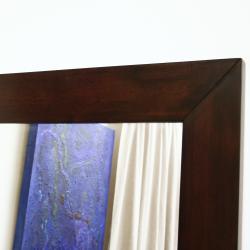 Doniea Dark Brown Wood Framed Rectangular Mirror