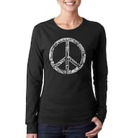 Los Angeles Pop Art Women's Peace Long-sleeved Top