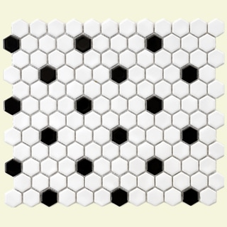 Tile | Overstock.com Shopping - Top Rated Tile - Black And White Ceramic Tile