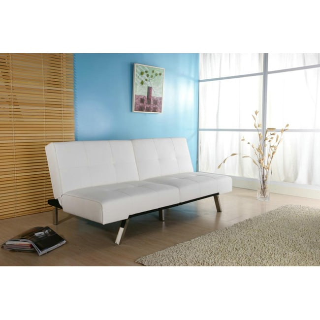 Sofa Bed Deals: Jacksonville White Foldable Futon Sofa Bed