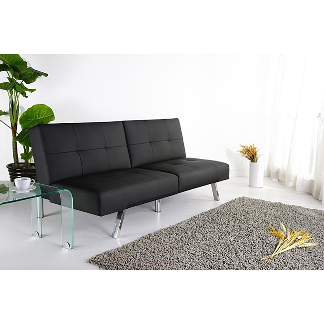 Jacksonville Black Foldable Futon Sofa Bed 13332856