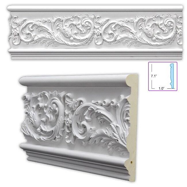 Leafy Scroll 7.125-inch Frieze/ Chair Rail (8 Pack