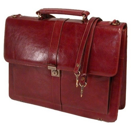 Solo Colombian Padded Leather Laptop Briefcase With File