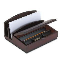 Rolodex Wood Mahogany Desktop Printer Stand 13338869