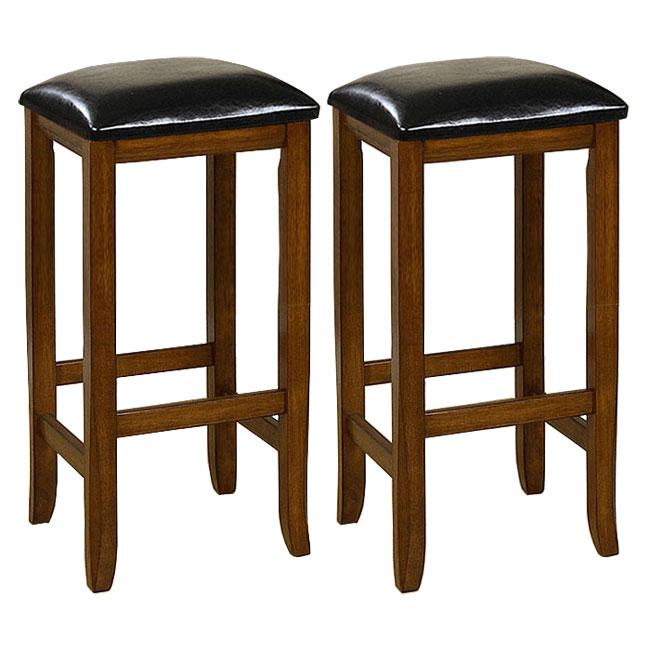 Mission Style 29 Inch Oak Barstools Set Of 2 13348533