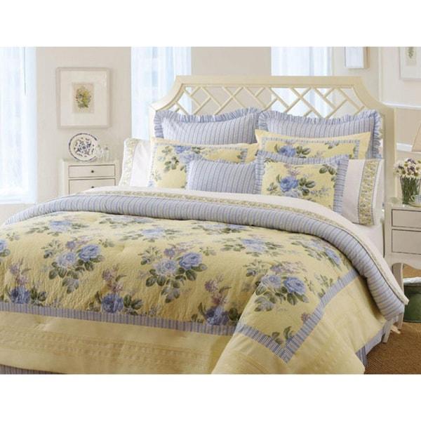 Laura Ashley Caroline 4 Piece Queen Size Comforter Set