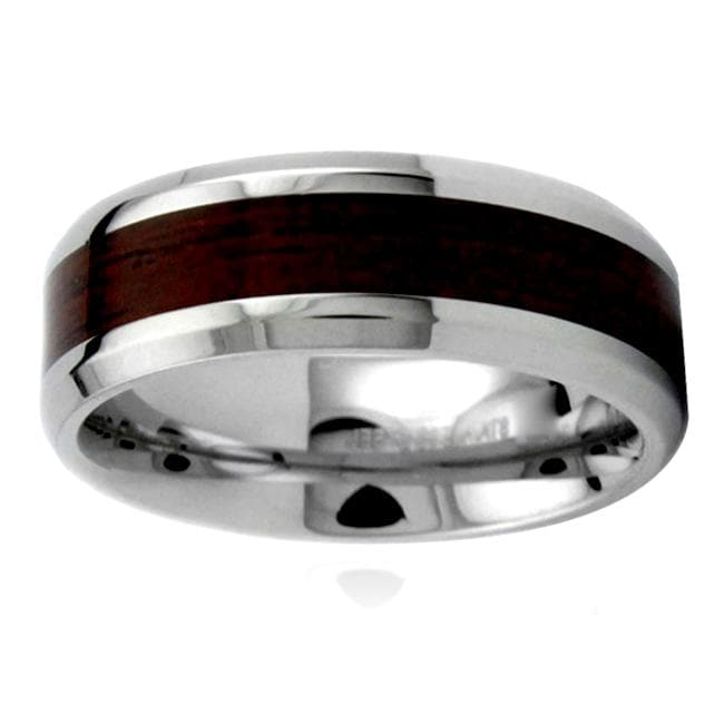 Stainless Steel Men S Wood Inlay Ring 13350280
