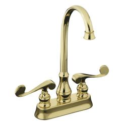 Kohler K  G Fairfax High Spout Kitchen Sink Faucet Brushed Chrome