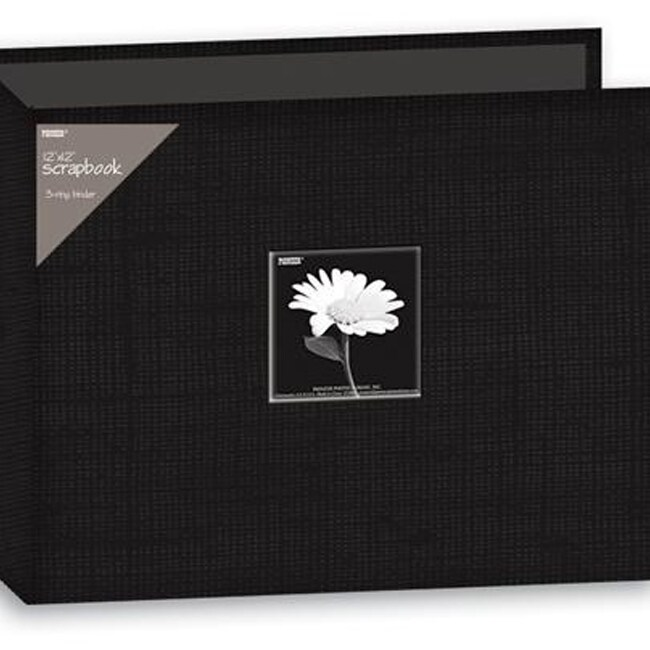 Pioneer 12x12-inch Deep Black 3-Ring Memory Book Binder