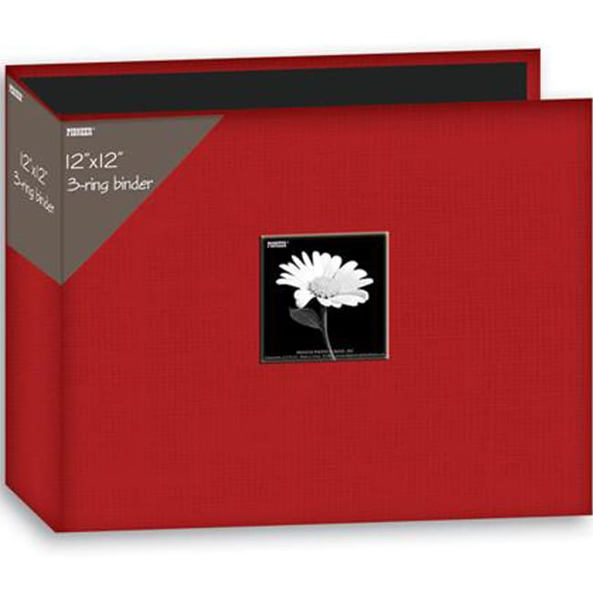 Pioneer 12x12-inch Apple Red 3-Ring Memory Book Binder