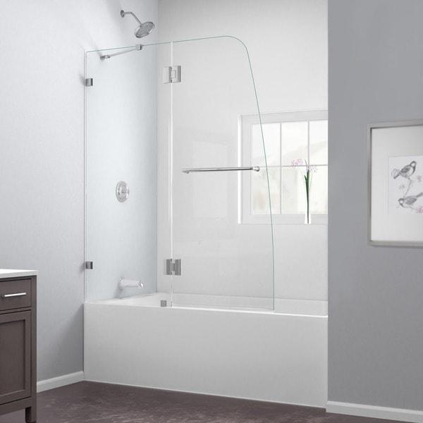 Dreamline Aqualux 48x58 Inch Frameless Hinged Tub Door