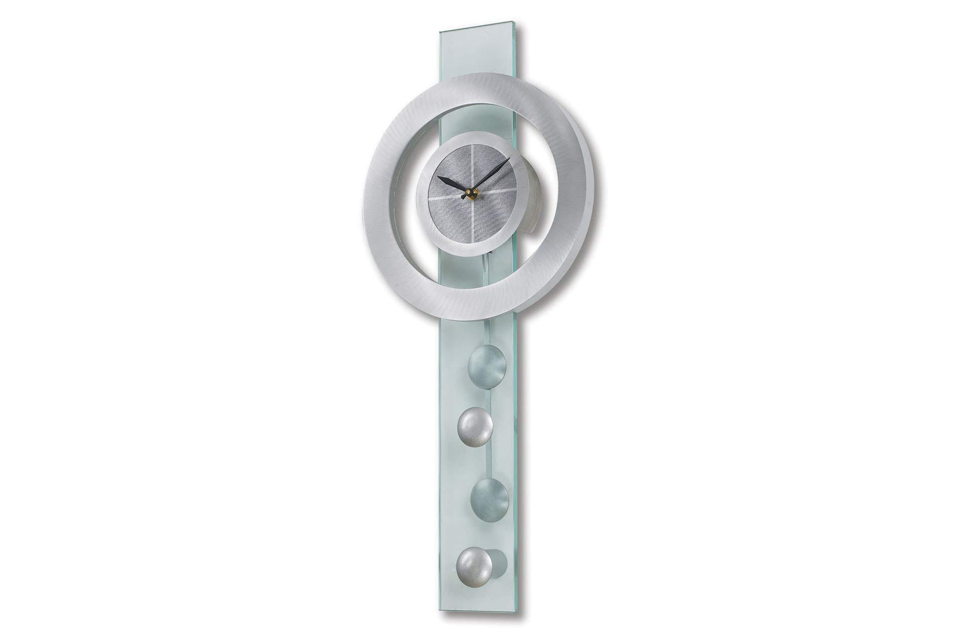 Jon Gilmore Designs Juggling Time Silver Pendulum Wall Clock