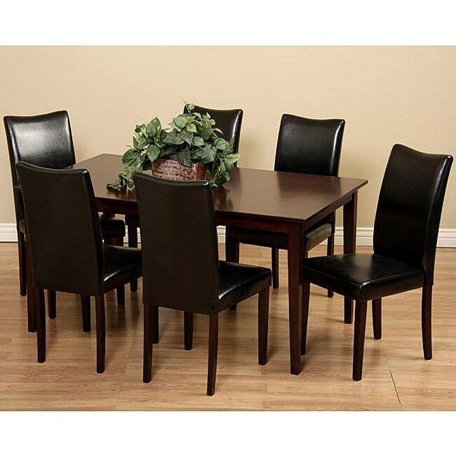 black 7 piece dining room set | Shino Black 7-piece Dining Room Furniture Set - 13376562 ...