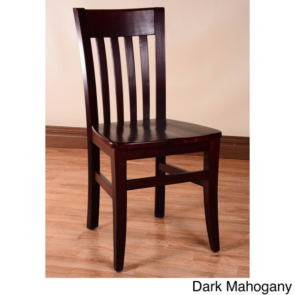 Jacob Wood Dining Chairs Set Of 2 13386380 Overstock