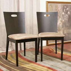 Baxton Studio Lamar Dark Brown Dining Chairs Set Of 2 13389532 Overstock Com
