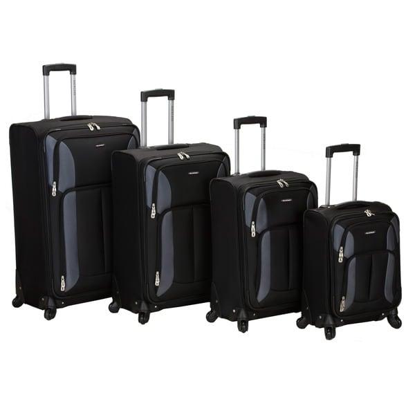 Black rockland polo equipment 4 piece luggage set 7e9f1e64 8412 4bc6 8d7d c8e89000c730 600