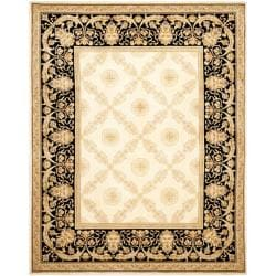 Asian Hand Knotted Zeus Trellis Blue Wool Rug 10 X 14