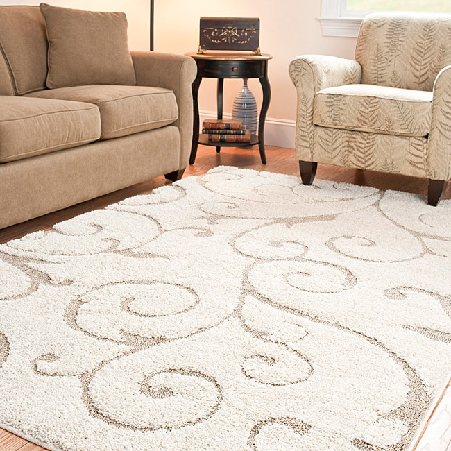 Ultimate Cream Beige Shag Area Rug 53 X 76 On Popscreen