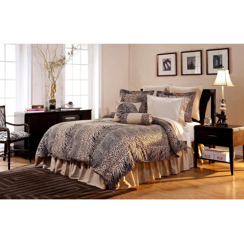 Safari Bedroom: Urban Safari California King-size 8-piece Comforter Set