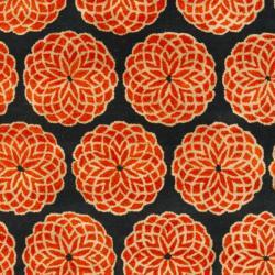 Safavieh Handmade Rodeo Drive Floral Black Rust Wool Rug