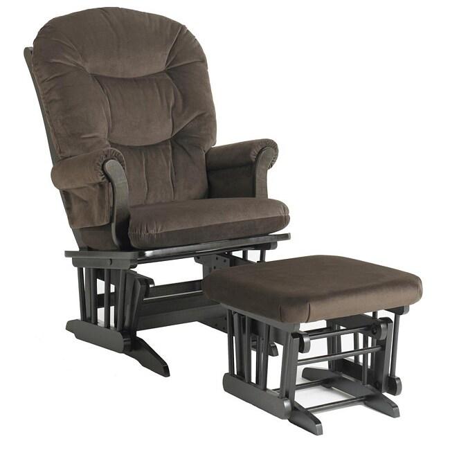 Dutailier Ultramotion Brown Microfiber Sleigh Glider Chair