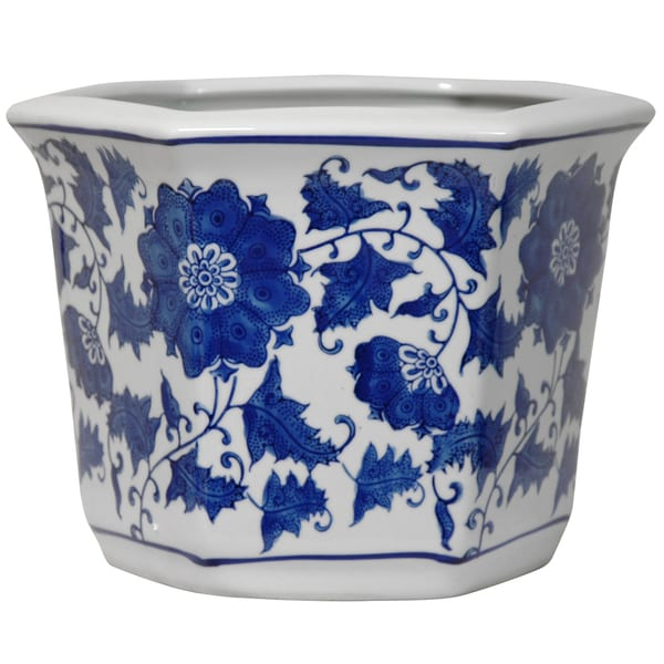 Porcelain Blue And White Flower Pot China 13420926