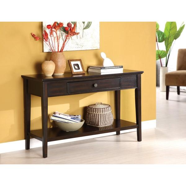 Furniture Of America Karlyn Dark Cherry Sofa Entryway