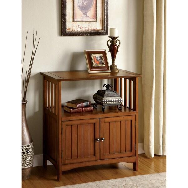 Furniture Of America Sebastian Antique Oak Double Door