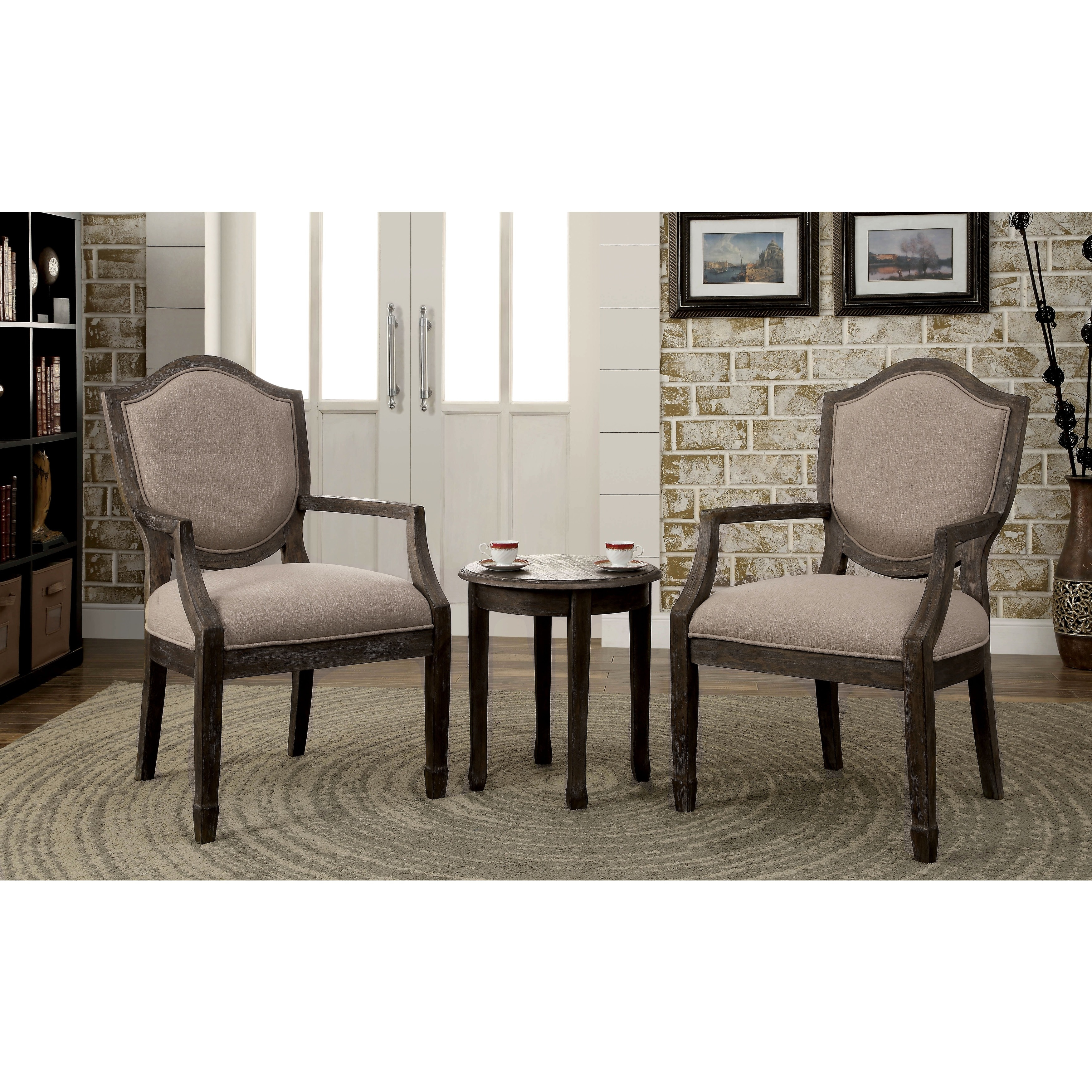 Living Room Furniture Deals: Furniture Of America Caroline 3-piece Living Room