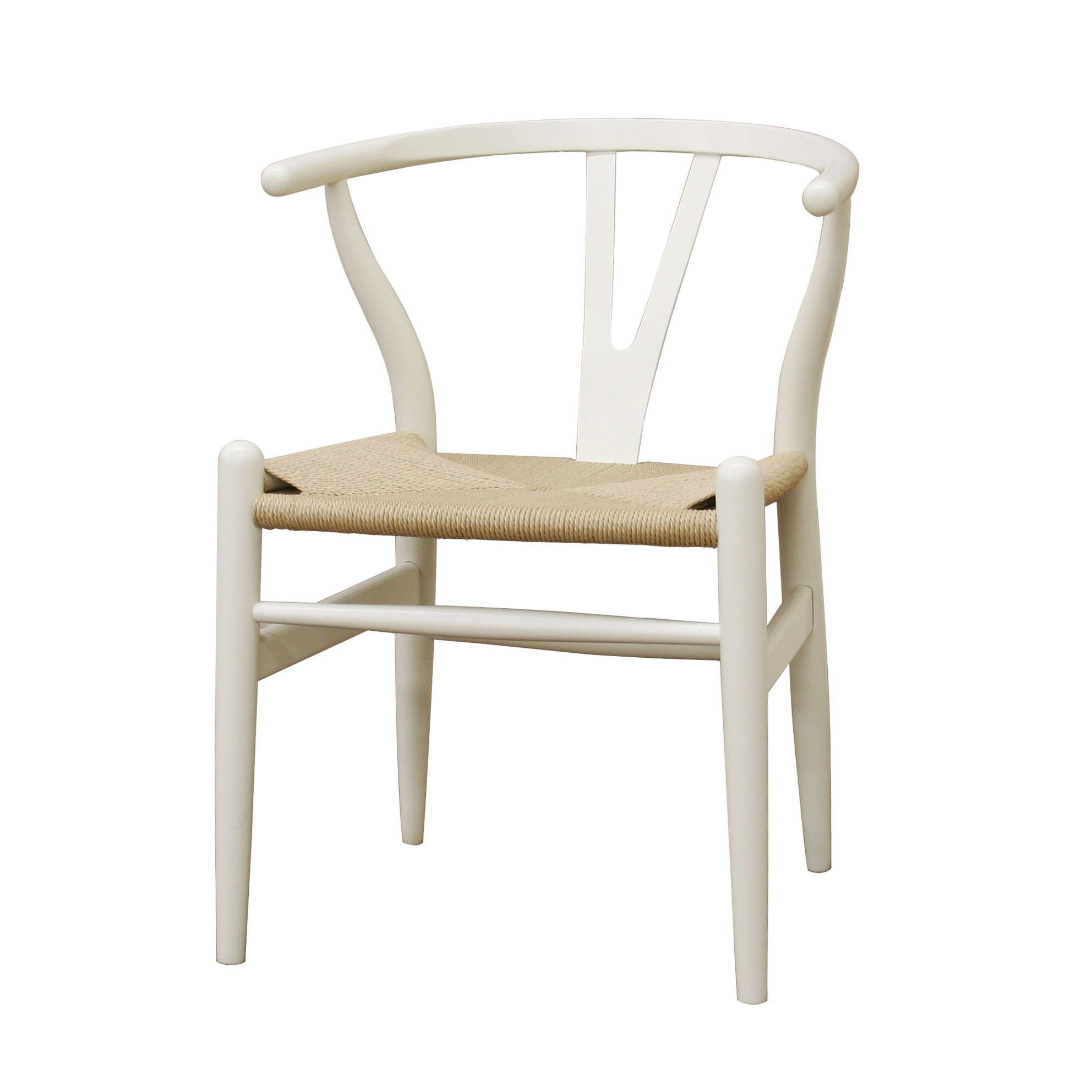 Overstock Dining Chairs: Wishbone Ivory Wood Y Chair
