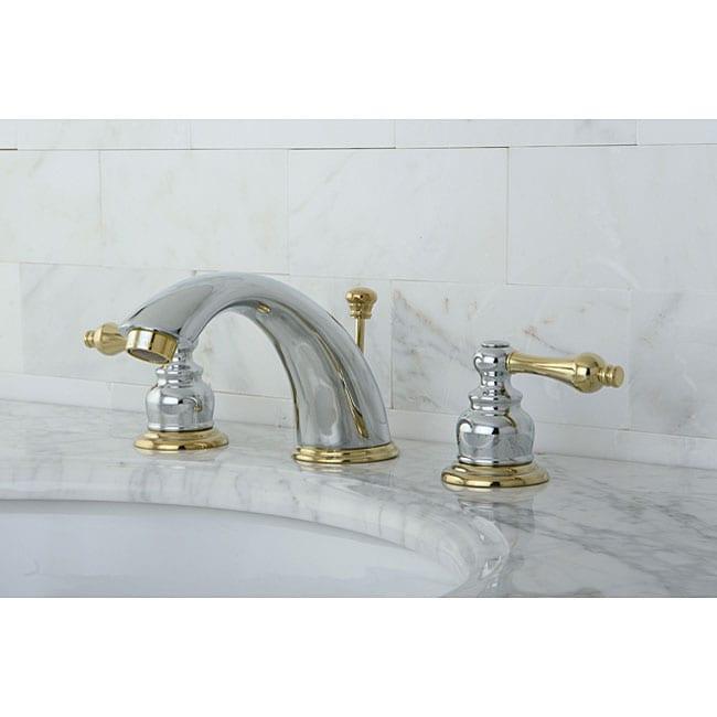 Victorian Chrome Polished Brass Widespread Bathroom