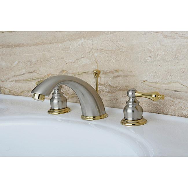 Victorian Satin Nickel Polished Brass Widespread Bathroom
