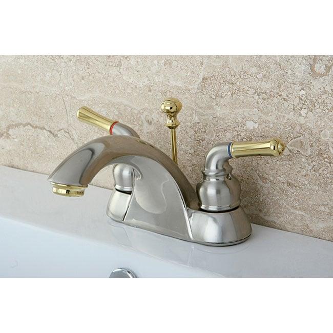 Naples Satin Nickel Polished Brass Bathroom Faucet