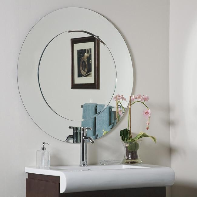 Oriana Round Modern Bathroom Mirror 13434680 Overstock