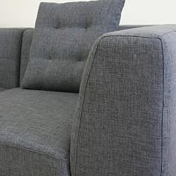 Alcoa Grey Fabric Modular Modern Sectional Sofa 13449291