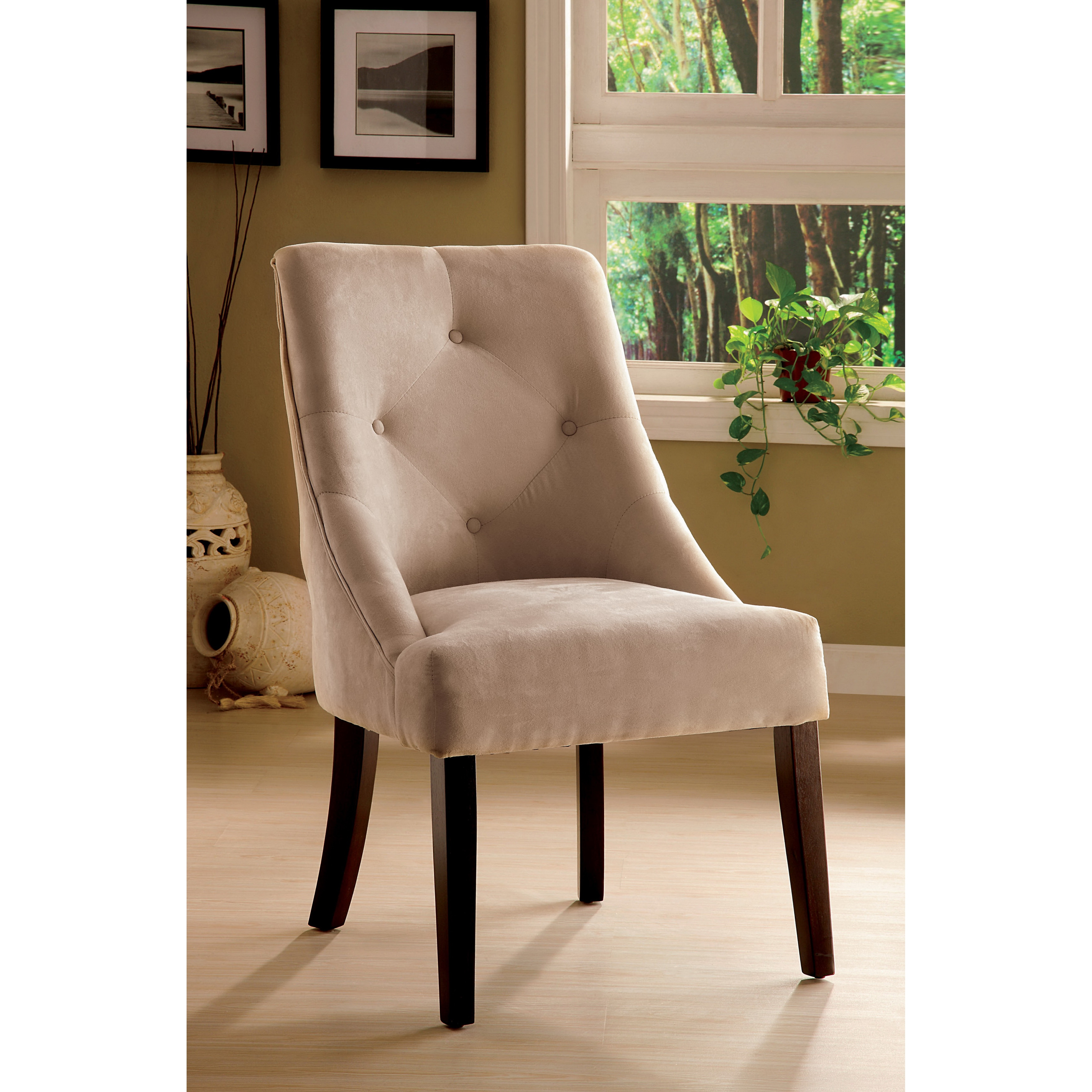 Overstock Dining Chairs: Furniture Of America Mocha Aura Leisure Microfiber Dining
